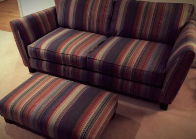 2 seater sofa and stool